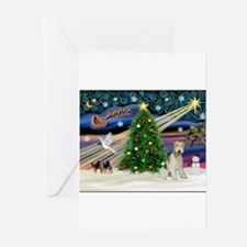 Funny Wire fox terrier Greeting Cards (Pk of 20)