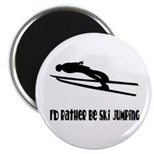 Rather Be Ski Jumping Magnet