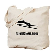 Rather Be Ski Jumping Tote Bag