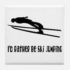 Rather Be Ski Jumping Tile Coaster