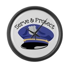 Serve & Protect Large Wall Clock