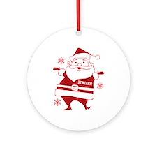 Be Merry Santa Ornament (Round)