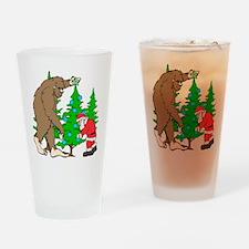 Bigfoot, Santa Christmas Drinking Glass