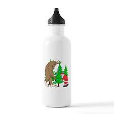 Bigfoot, Santa Christm Water Bottle