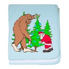 Bigfoot, Santa Christmas baby blanket