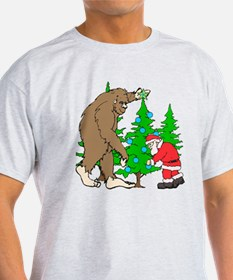 Bigfoot, Santa Christmas T-Shirt