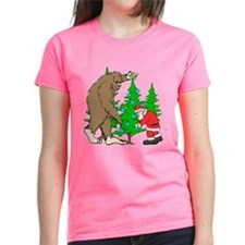 Bigfoot, Santa Christmas Tee