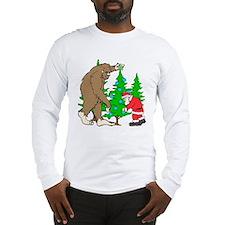 Bigfoot, Santa Christmas Long Sleeve T-Shirt