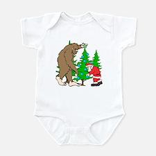 Bigfoot, Santa Christmas Infant Bodysuit