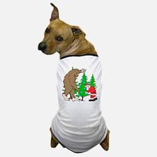 Bigfoot, Santa Christmas Dog T-Shirt
