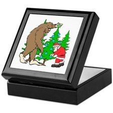 Bigfoot, Santa Christmas Keepsake Box