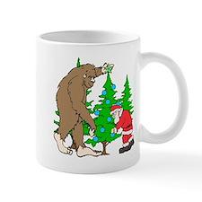 Bigfoot, Santa Christmas Mug