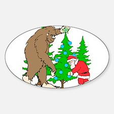 Bigfoot, Santa Christmas Decal