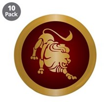 """Leo Gold 3.5"""" Button (10 pack)"""