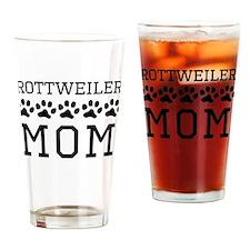 Rottweiler Mom Drinking Glass