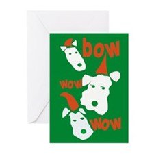 Cute Fox terrier breed art Greeting Cards (Pk of 20)