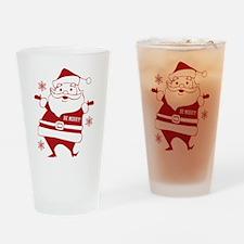 Be Merry Santa Drinking Glass
