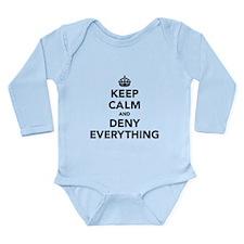 Keep Calm And Deny Eve Long Sleeve Infant Bodysuit