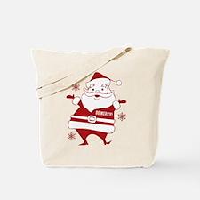 Be Merry Santa Tote Bag