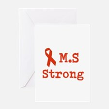M.S Strong Greeting Card