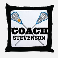 Lacrosse Coach Personalized Throw Pillow