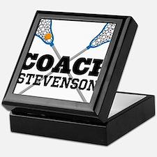 Lacrosse Coach Personalized Keepsake Box