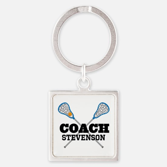 Lacrosse Coach Personalized Keychains