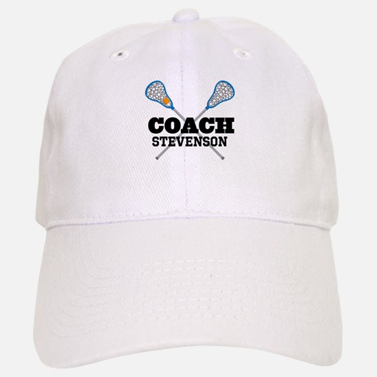 Lacrosse Coach Personalized Baseball Cap
