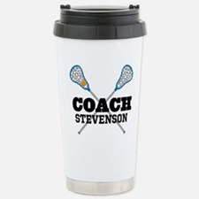 Lacrosse Coach Personalized Travel Mug