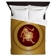 Leo Gold Queen Duvet