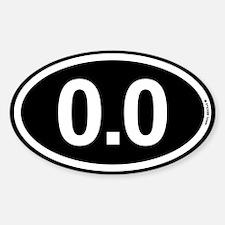 Black White 0.0 Zero Marathon Runne Decal