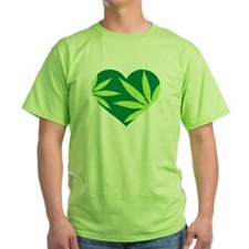Marijuana heart T-Shirt