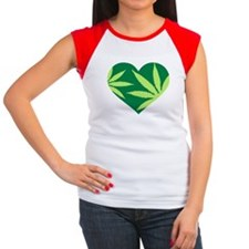 Marijuana heart Women's Cap Sleeve T-Shirt