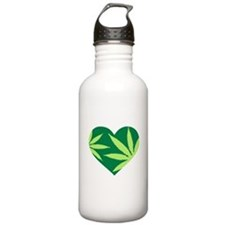 Marijuana heart Water Bottle