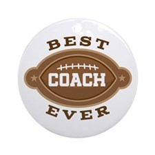 Best Football Coach Ever Ornament (Round)