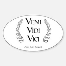 Veni Vidi Vici Oval Decal
