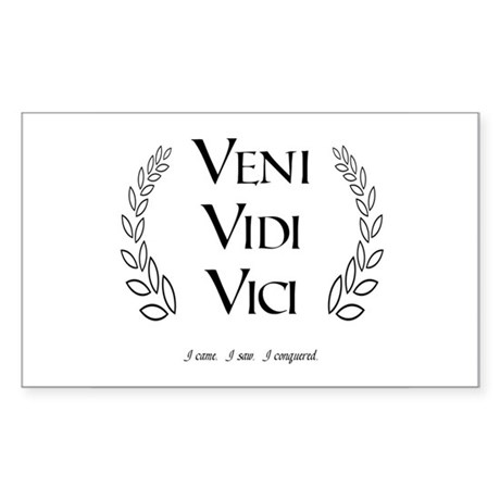 Veni Vidi Vici Rectangular Sticker