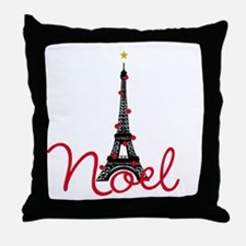 Paris Noel Throw Pillow