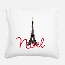 Paris Noel Square Canvas Pillow