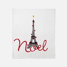 Paris Noel Throw Blanket