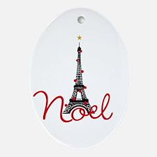 Paris Noel Ornament (Oval)
