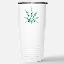 Marijuana leafs Stainless Steel Travel Mug