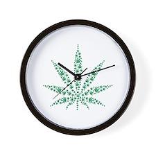 Marijuana leafs Wall Clock
