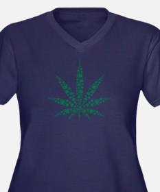 Marijuana le Women's Plus Size V-Neck Dark T-Shirt
