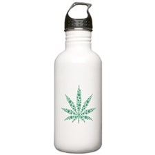 Marijuana leafs Water Bottle