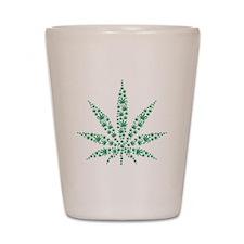 Marijuana leafs Shot Glass