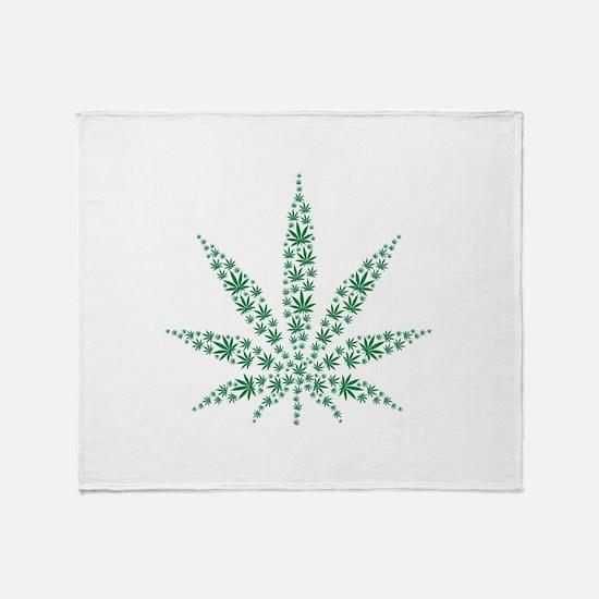 Marijuana leafs Throw Blanket