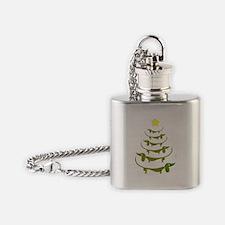 Weiner Dog Dachshund Christmas Flask Necklace