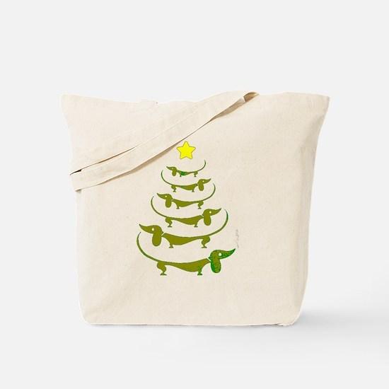 Weiner Dog Dachshund Christmas Tote Bag