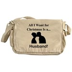 Christmas Husband Messenger Bag